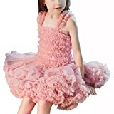 oboss Girl Dress Kids Ruffles Lace Party Wedding Dresses 1-6 Years (Pink, 5-6 Years/120cm)