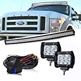Led Light Bar, DOT 54Inch Curved Led Light Bar Offroad Spot Flood Combo