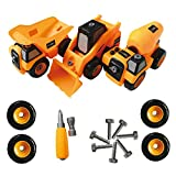 Construction Toy Trucks Take apart Tool set - Best kids Toys for Boys and girls age 3 - 8 - PACK of 3 Monster trucks includes a dump truck, concrete mixer truck, forklift truck. Reviews