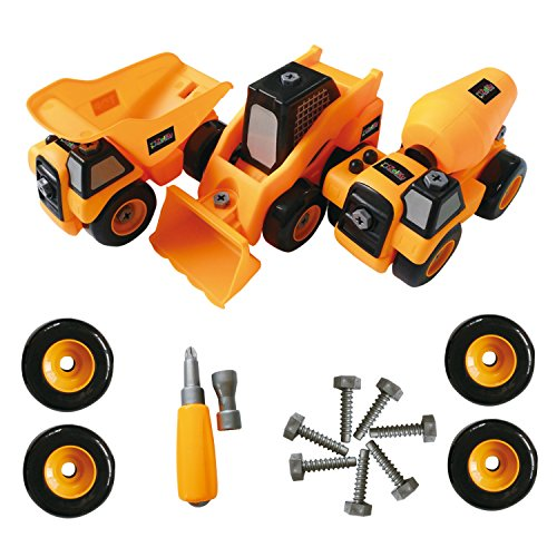 ToyVelt Construction Take Apart Trucks STEM Learning Toys,