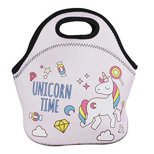 1e9053a39d3a Violet Mist Neoprene Reusable Insulated Lunch Bag School Picnic Thermal  Carrying Gourmet Lunchbox Lunch Tote Container Organizer For Men, Women, ...