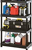 Inval America Black Heavy Duty 4 Tier Shelve