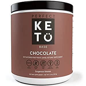 Perfect Keto Chocolate Exogenous Ketones: Base BHB Salts Supplement- Ketones for Ketogenic Diet Best to Burn Fat to Support Energy, Focus and Ketosis Beta-Hydroxybutyrate BHB Salt Powder