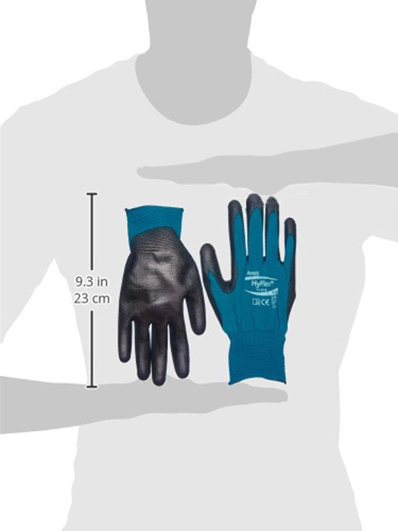 Protecci/ón mec/ánica Negro Ansell 11-616//6 HyFlex Multiusos guante bolsa de 12 pares Tama/ño 6
