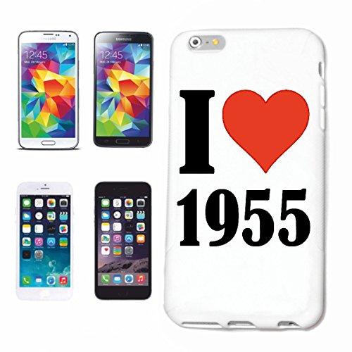 """Handyhülle iPhone 4 / 4S """"I Love 1955"""" Hardcase Schutzhülle Handycover Smart Cover für Apple iPhone … in Weiß … Schlank und schön, das ist unser HardCase. Das Case wird mit einem Klick auf deinem Smar"""