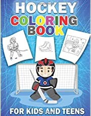 Hockey Coloring Book: Beautiful Snowing Hockey Coloring pages For Kids And Teens, Fun Hockey Coloring Book For Boys And Girls
