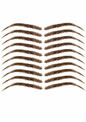 Cardani Eyebrow Tattoos #17 - Classic Shape Temporary Tattoo Eyebrows - Dark Brown ()