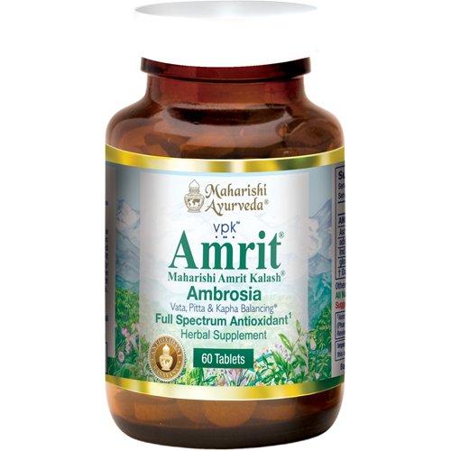 Амрит Калаш Ambrosia полного спектра антиоксидант, 500 мг, 60 Травяные таблетки