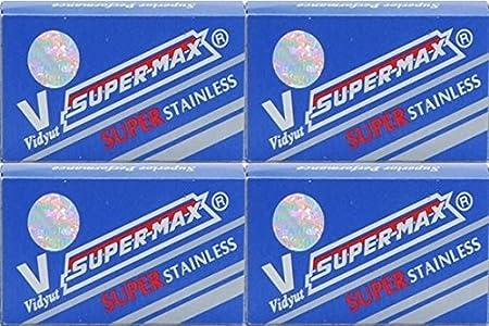 40 Cuchillas de afeitar Super-Max - Super Stainless