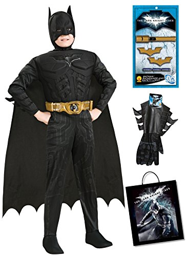 [Rubie's Costume The Dark Knight Rises Muscle Chest Batman Costume & Accessories Bundle, Multicolor,] (Good Guys Halloween Costumes)