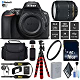 Nikon D5600 DSLR Wi-FI NFC 24.2MP DX CMOS Camera AF-S 18-140mm VR Lens + UV Protection Lens Filter + 12 inch Flexible Tripod + Camera Case - International Version