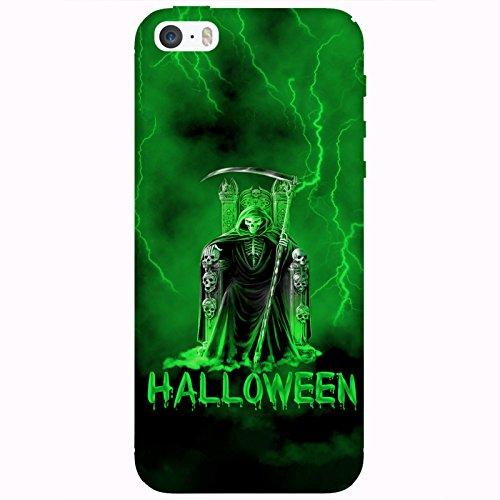 Coque Apple Iphone 5-5s-SE - Halloween faucheuse vert