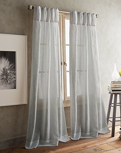 DKNY Paradox Pencil Pleat Sheer Window Curtain Panel Pair - Inverted Pleat Curtains