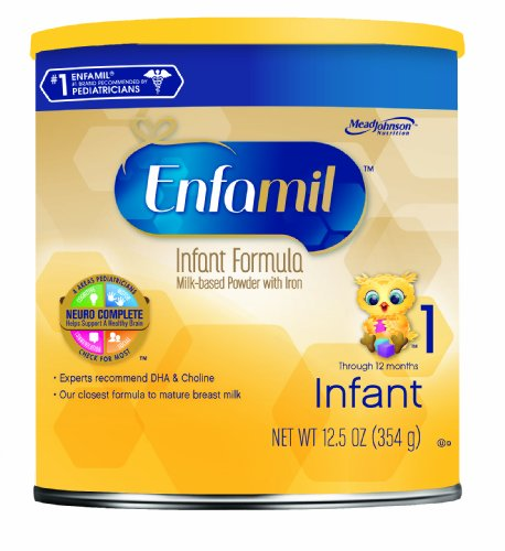 Enfamil Infant Formula Milk-Based with Iron, 12.5 Oz (Packaging May Vary)
