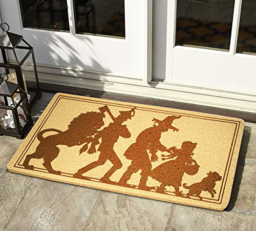 GiftSolutions The Wizard of Oz Doormat Novel Doormat Handmade Doormat The Wizard of Oz Door Mat Novel Door Mat Handmade Eco-Friendly Anti-Slip Doormat Rubber Home Decor Indoor Outdoor Entrance