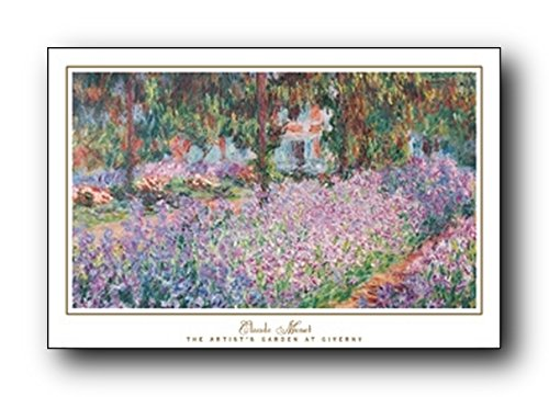 Wall Decoration Claude Monet The Artist's Garden at Giverny Art Print Poster (24x36)