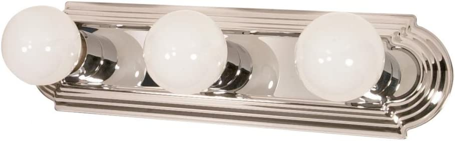 Nuvo 60 296 Three Light Vanity Strip, Polished Chrome, 18-Inch