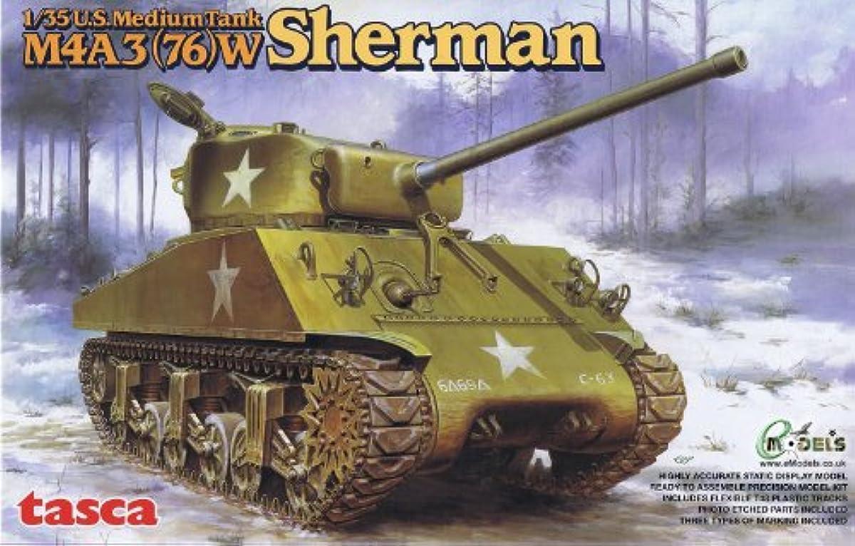 [해외] 아스카 모델 1/35 미군 중 전차 M4A3 76W 샤먼 프라모델  35-019