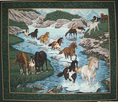 River Run Wall Hanging By General Fabrics - 100% Cotton, PANEL ()