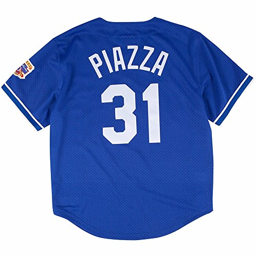 Mike Piazza Blue Los Angeles Dodgers Authentic Mesh Batting Practice Jersey X Large  48