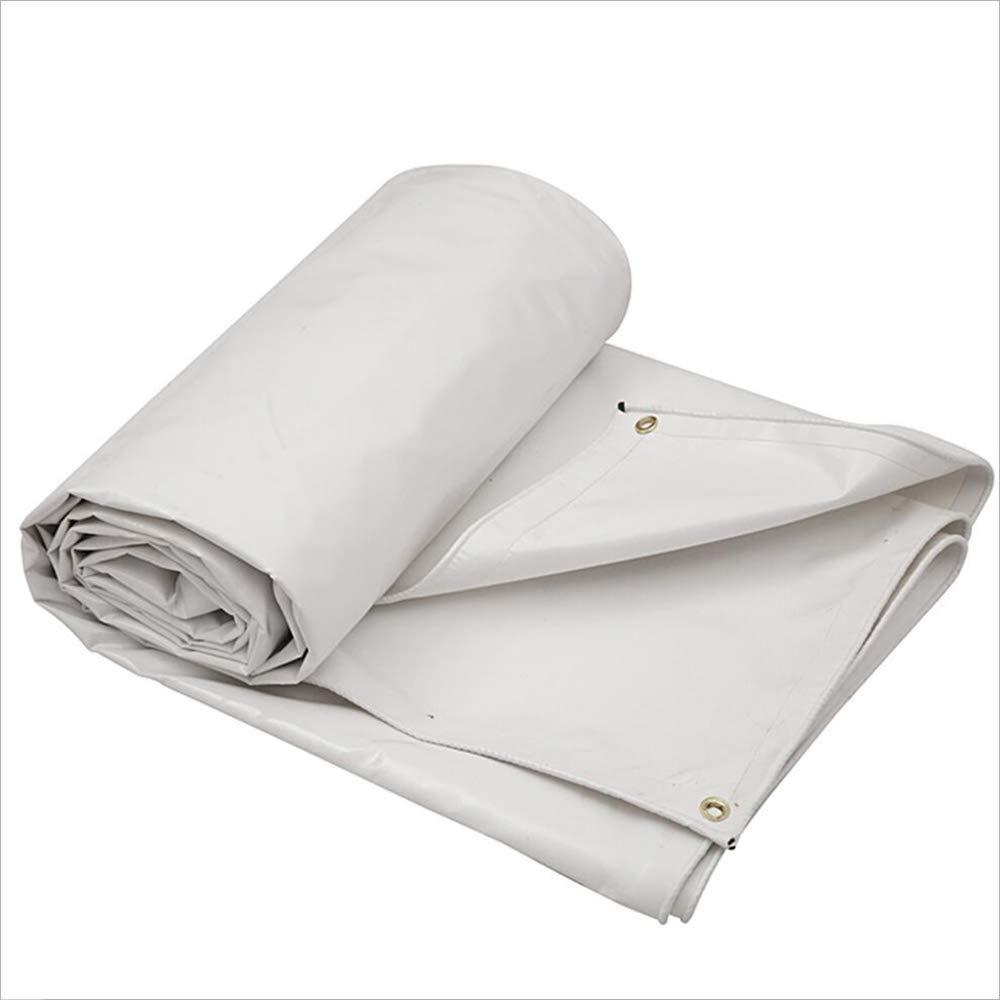 ZHULIAN Wasserdichtes Tuch, weißes PVC Dickes staubdichtes Anti-Verschleiß Markisentuch Randeinfassung