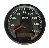 Black GPS MPH Speedometer Gauge Odometer Fit ATV UTV Motorcycle Marine Boat Buggy Golf Go Cart