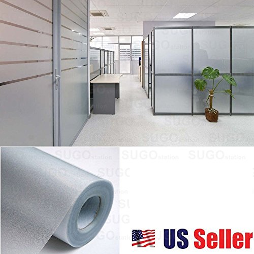 Sugo 3FT x 12FT Premium Frosted Home Privacy Bedroom Bathroom DIY Window Tint Glass Film Sheet