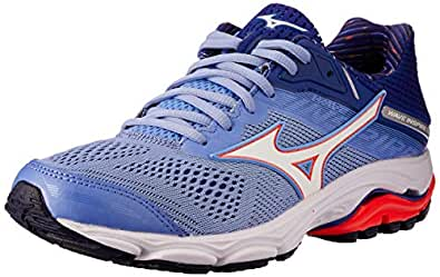Mizuno Australia Women's Wave Inspire 15 Running Shoes, Grapemist/White/Fiery Coral, 6.5 US