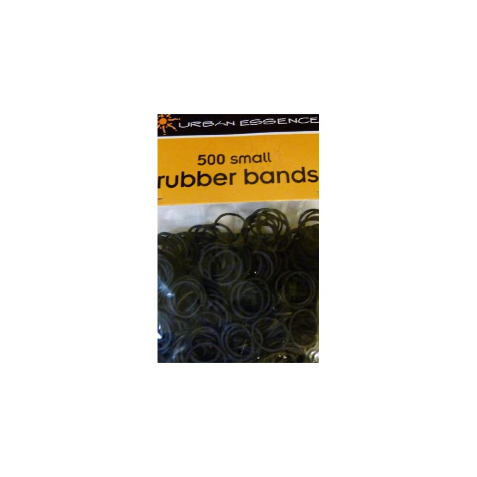 Pack of 500 Small Black Rubber Bands Rubberbands for Hair Styling, Kids Hair, Braids Hair, Dreadlocks, Babies,Toddlers, Hair Twists, Ethnic Styles and Even Fishing Tackle and Crafts, Urban Essence Brand Beauty