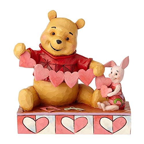 (Enesco 4059746 Disney Traditions by Jim Shore Pooh and Piglet Handmade Valentines Figurine, 5.5