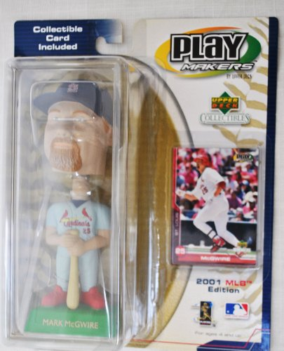 Mark Mcgwire Card - St. Louis Cardinals star Mark Mcgwire #25 official MLB Upper Deck Playmakers Bobble card set Bobblehead