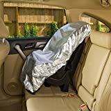 Iusun Car Seat Sunshade Covers, Baby Child Protector Cool Auto Window Sun Protection (Sliver)