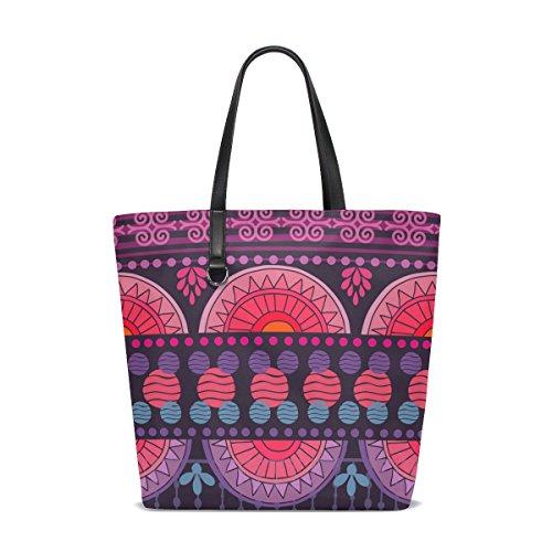 ISAOA tote-001 - Bolso al hombro de Piel para mujer multicolor talla única