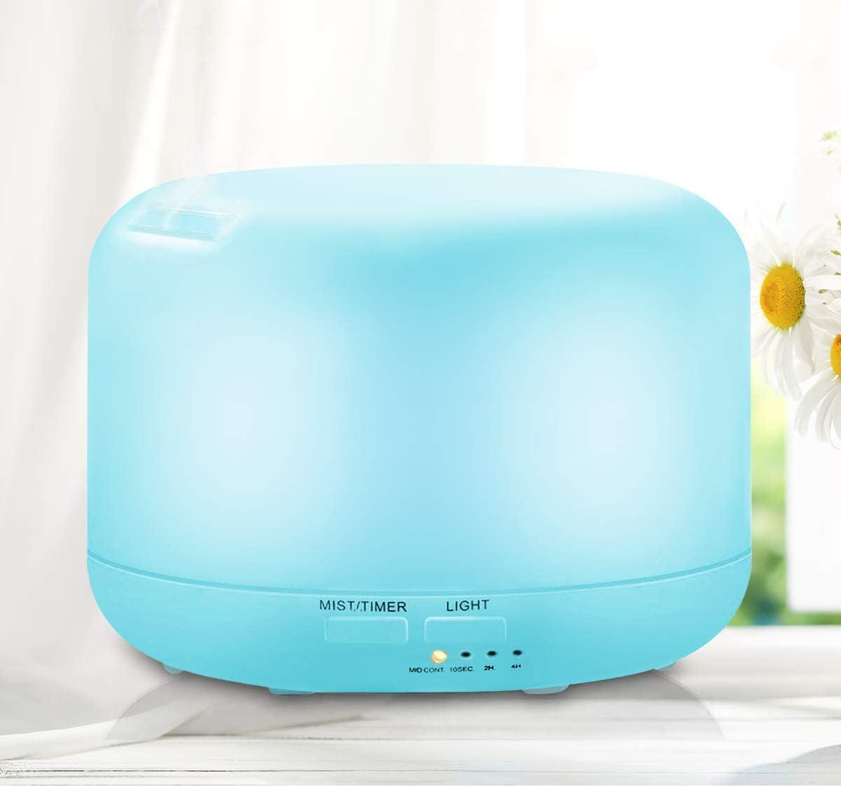 UBEGOOD Humidificador, Humidificador Ultrasónico Control Remoto Aroma Difusor purificador de Aire con LED de 7 Colores de para luminoterapia en el Hogar, Oficina, SPA, Bebé (300ml)