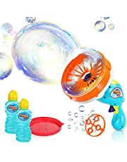 Ucradle Maquina de Burbujas, Máquina de Burbujas automática niños soplador de Burbujas para Fiestas Incluye Botella de solución 1000 Burbujas,los Mejores Juguetes y Regalos para niños y niñas