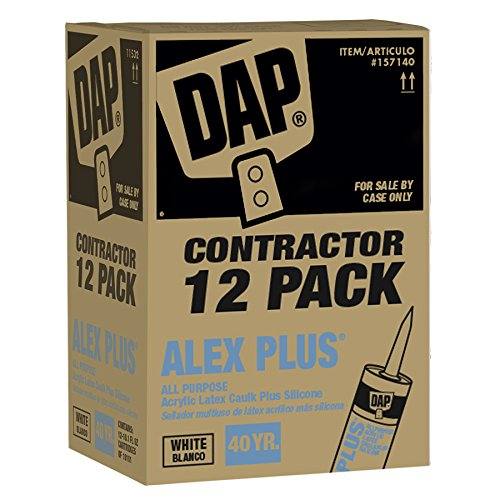 DAP Contractor 12-Pack - ALEX PLUS-« White Caulk ()