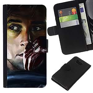 YiPhone /// Tirón de la caja Cartera de cuero con ranuras para tarjetas - UNIDAD ANSARÓN - Samsung ALPHA G850