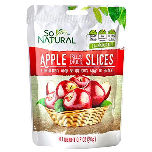 So Natural Freeze Dried Apples, 6 packages of 0.7 Ounces Each - Natural Dried Apple