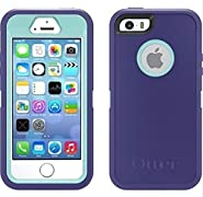 OtterBox iPhone 5/5s Defender with Belt Clip/Holster - Purple/Light Blue