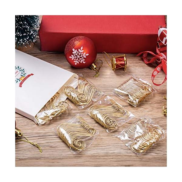 MELLIEX 120 Pezzi Natale Ornamento Ganci in Metallico S Ganci Appendini con Ornamento a Spirale per Ornamento dell'Albero di Natale 7 spesavip