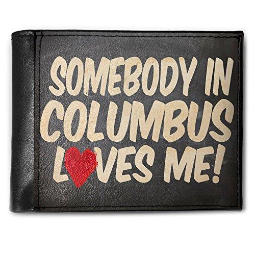 Wallet Somebody in Columbus Loves me, Ohio Men's Bifold ID Case - Neonblond Ohio Bi Fold Wallet