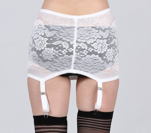 3044cacdf TVRtyle Black White Vintage 4 Wide Strap Metal Clip Sexy Women s Garter  Belts for Stockings
