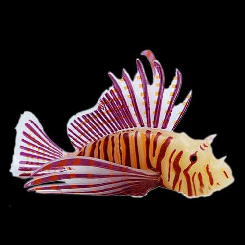 [Lionfish S Red Aquarium Fish Tank Landscape Decoration Glow Simulation Animal Plants Ornament no.25] (Red Crayon Tank Dress Costume)