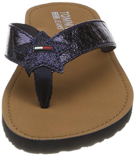 Glitter 403 Femme midnight Tongs Beach Sandal Jeans Tommy Bleu 1AxTqf5Z