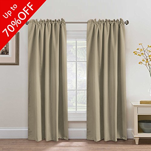 ... Curtains 2 Panels, Thermal Insulated Back Tab / Rod Pocket Panels For  Baby Girls Bedroom, Energy Saving Window Panel Drapes   52x84 Inch   Khaki
