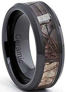 Mens Black Tungsten Carbide Wedding Bands 75 Great Black Ceramic Men us