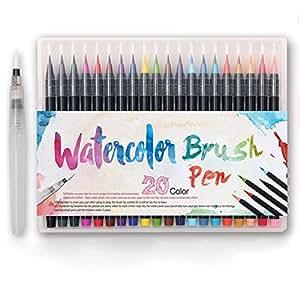 Amazon.com: Premium Watercolor Soft Brush Pen - Flexible Tip ...