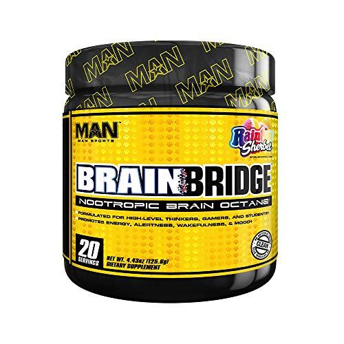 Man Sports Brainbridge Nootropic Brain Octane Booster Supplement, 120 Gram