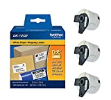 Brother Genuine DK-1202 Die-Cut Shipping Paper Labels, 300 Labels per Roll, 3 Rolls – For Use With QL Label Printers