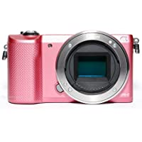 Sony Alpha A5000 ILCE5000/P 20.1MP Mirrorless Digital Camera Body Only (Pink)